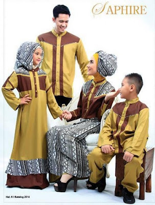 Model Baju Muslim Couple Family Untuk Pesta Formal Terbaru