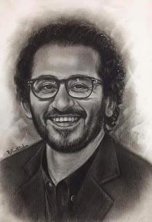 رسم الفنان الصمري احمد حلمي