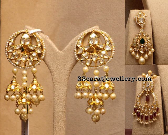 Trendy Pachi Design Chandbali Earrings