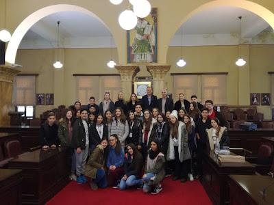 ΓΙΑΝΝΕΝΑ-Στο Δημαρχείο η αντιπροσωπεία του Λανίτειου Γυμνασίου Λεμεσού