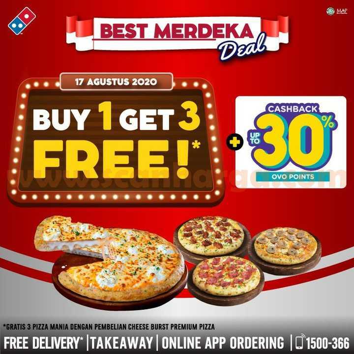 Dominos Pizza Promo Merdeka Best Deal Beli 1 Gratis 3 Pizza Mania
