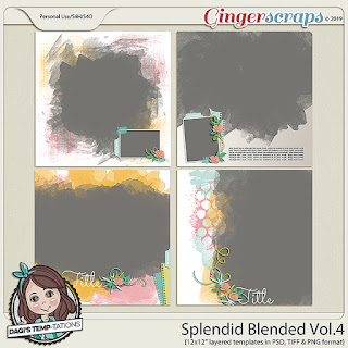 Creative Team, Annemarie, for GingerScraps -  Splendid Blended Vol. 4, Dagi Temp-tations  and Free Mini Kit for April Mini Kit Challenge