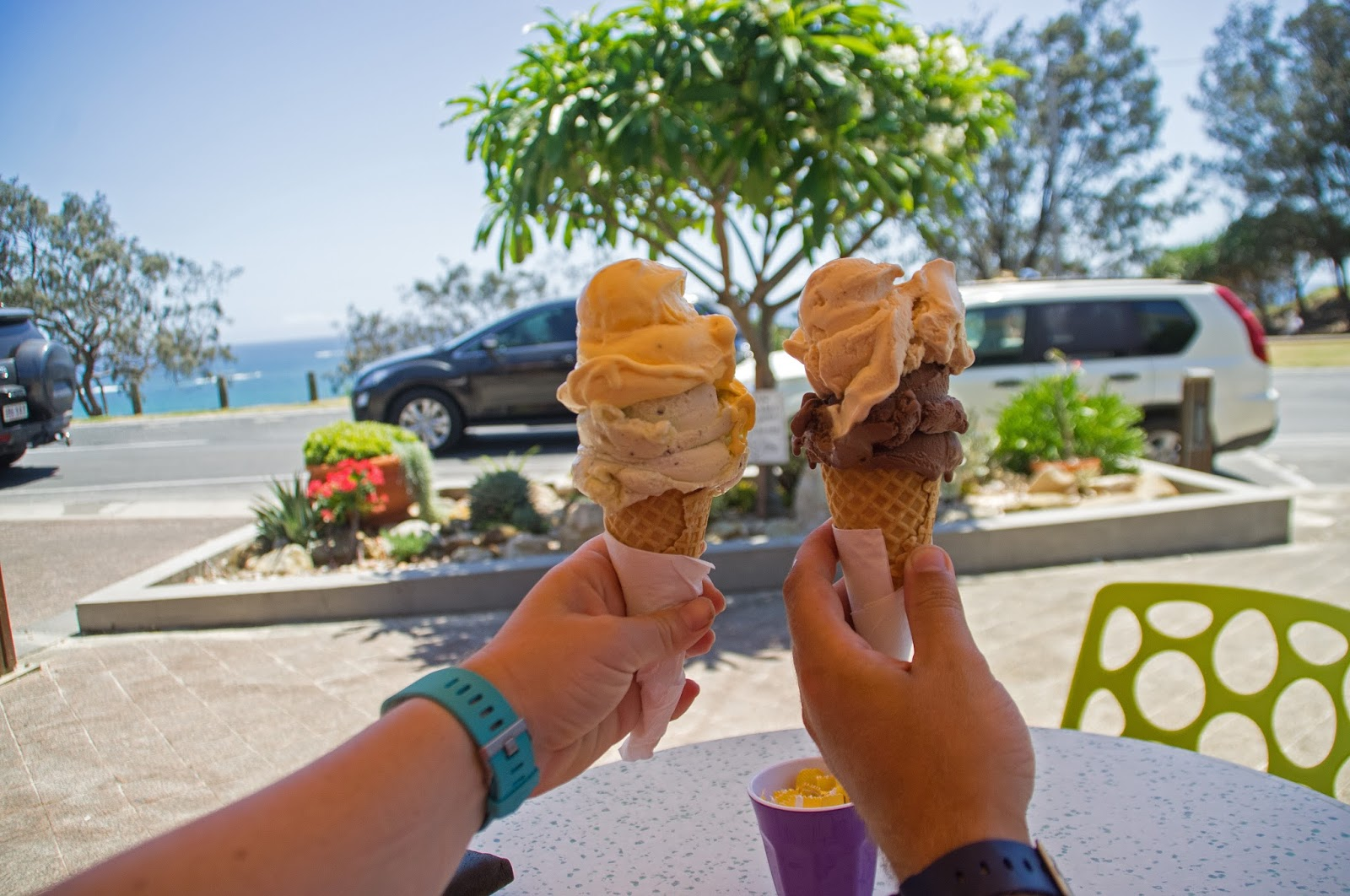 Ice cream from Oceanic Gelati Point Lookout