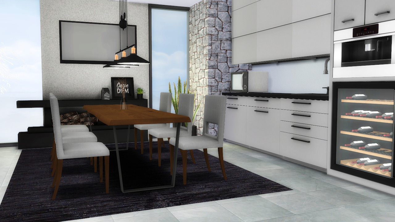 My Sims 4 Blog: Forest Hill Kitchen And Dining Set By MXIMS