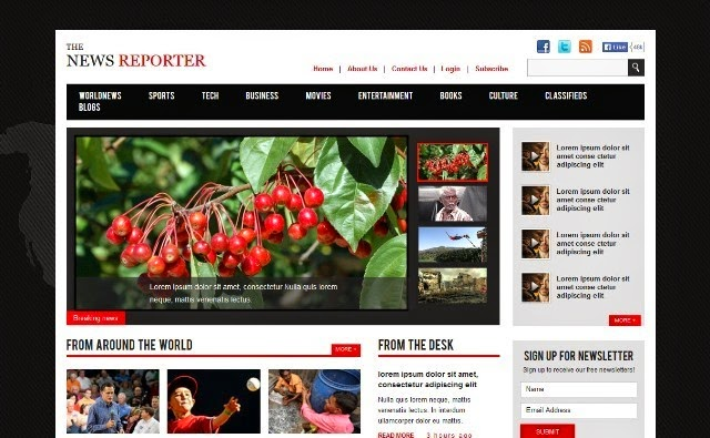 The New Reporter - Bootstrap Magazine Template