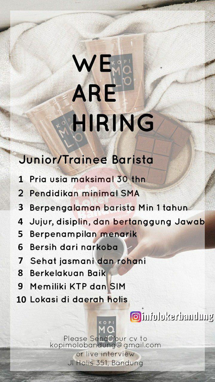 Lowongan Kerja Kopi Molo Bandung Oktober 2019