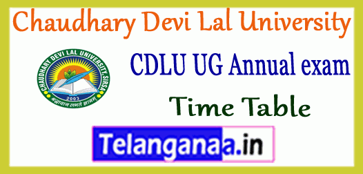 CDLU Chaudhary Devi Lal University UG 1st 2nd 3rd Year Time Table