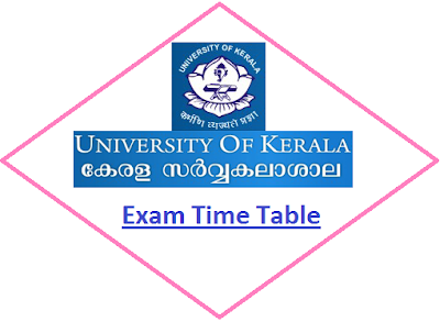 Kerala University Even Sem Time Table 2020