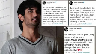 sushant singh rajput's last three tweets before he attempted suicide