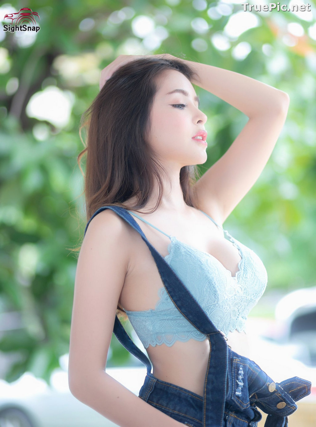 Image Thailand Model - Soithip Palwongpaisal - Blue Bra and Jean - TruePic.net - Picture-2