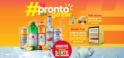 promoção gin gordons tanqueray