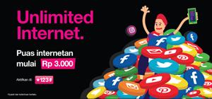 Cara Daftar Paket Internet Tri Unlimited Tanpa Kuota Rp.3000