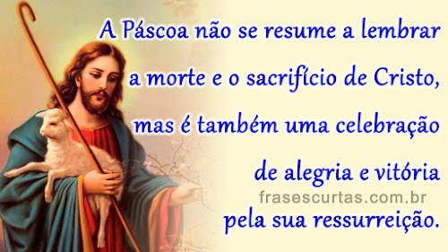 frases sobre Páscoa e Ressurreição de Jesus Cristo