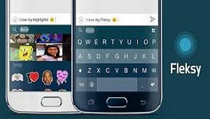 Fleksy : Keyboard Cepat + Stiker, GIF & Emoji