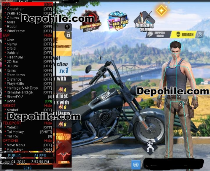 Rules of Survival ZNovax Menu Aim,Wallhack Hilesi 18.02.2019