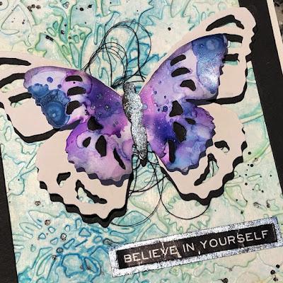 Tim Holtz Sizzix Tattered Butterfly Distress Oxide Sprays Alcohol Pearls Tutorial by Sara Emily Barker https://frillyandfunkie.blogspot.com/2019/03/saturday-showcase-tim-holtz-tattered.html 17