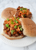 Asian sloppy joes on a whole-wheat bun
