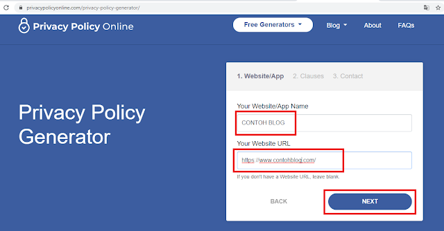 cara membuat About, Contact, Privacy Policy, Disclaimer