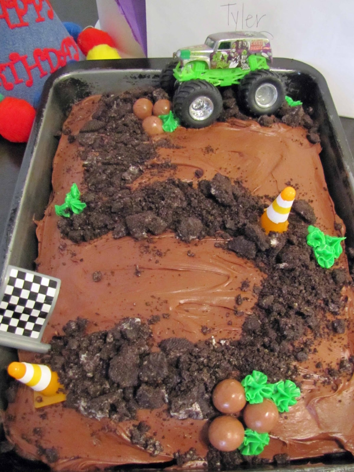 Monster Truck Themed Birthday Cake School Time Snippets