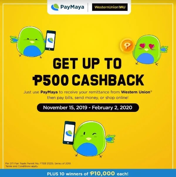 Receive Your Western Union Remittances Through PayMaya and Earn Php1,500 Cashback