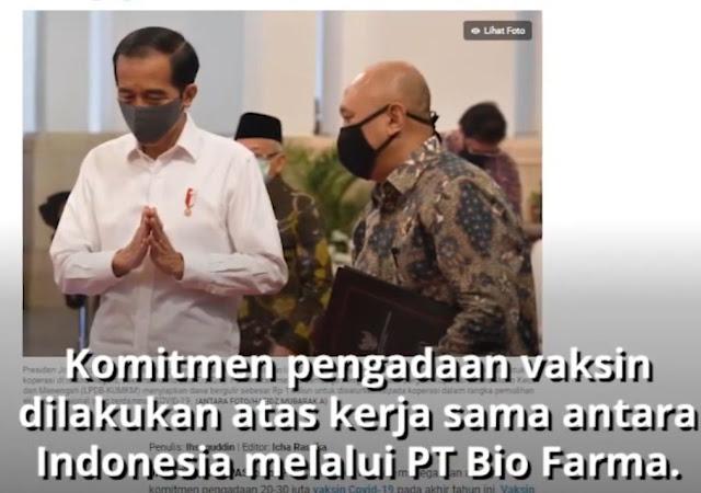 20-30 Juta Vaksin Corona Dipastikan Masuk Indonesia Akhir Tahun, Jokowi: Rebutan dengan Negara Lain