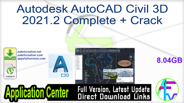 Autodesk AutoCAD Civil 3D 2021.2 Complete + Crack