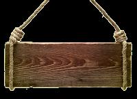 Plaquinha de madeira com corda