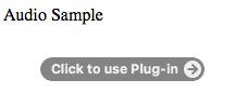 penggunaan audio untuk menampilkan suara pada laman html dengan menggunakan plug in tambahan