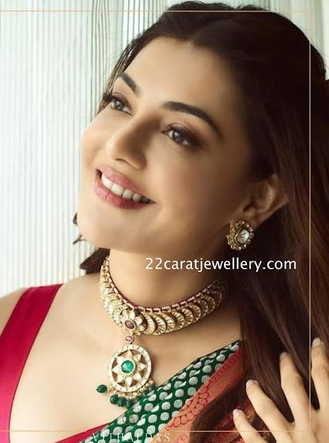 Kajal in Vitaldas Jewellers Choker
