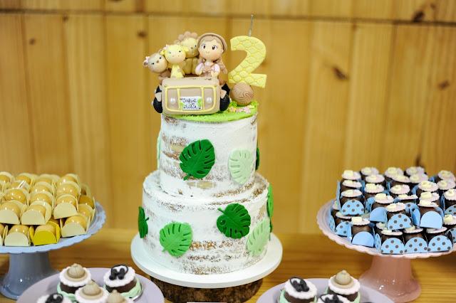 Festa de aniversário com tema Safári