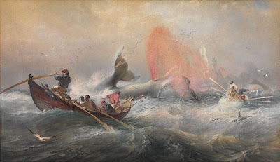 Oswald Brierly, 'Whalers off Twofold Bay, New South Wales', 1867.