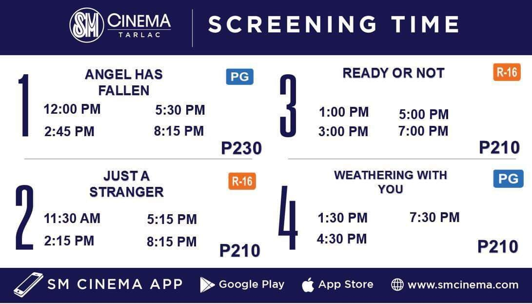 SM Cinema Tarlac Showing