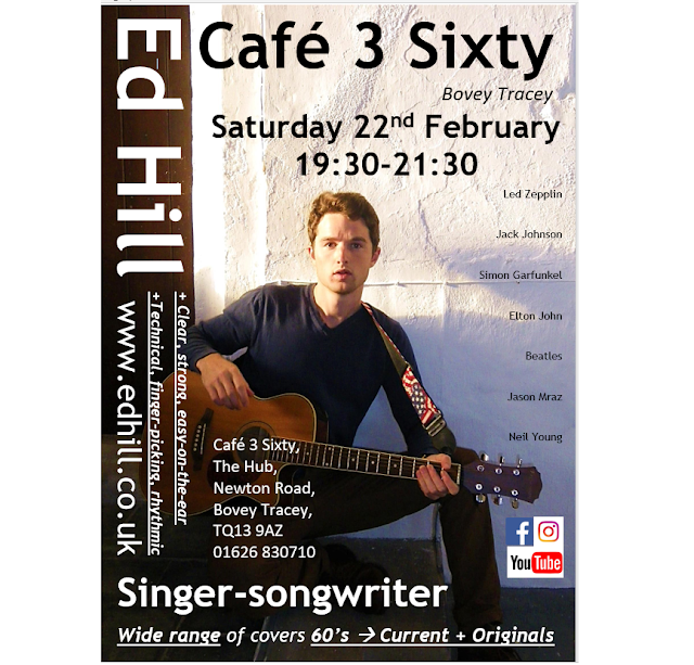 Ed Hill playing at Cafe 3 Sixty