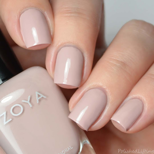muted blush nail polish