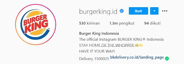 Cara Pesan Burger King Delivery