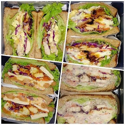 Wanpaku Sandwich menu diet orang Jepun, penuh inti puas hati!