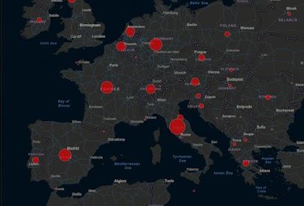 Κοροναϊός: Live ο χάρτης με τα κρούσματα στην Ευρώπη