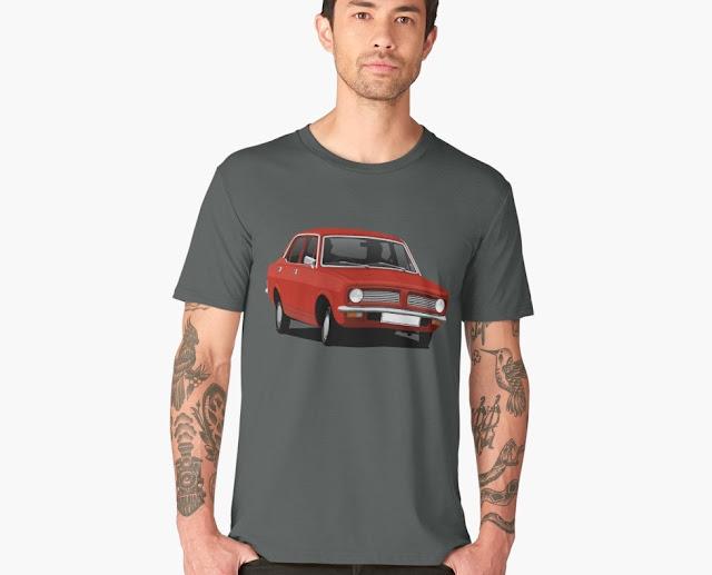 Young timer: Red Morris Marina - car t-shirt