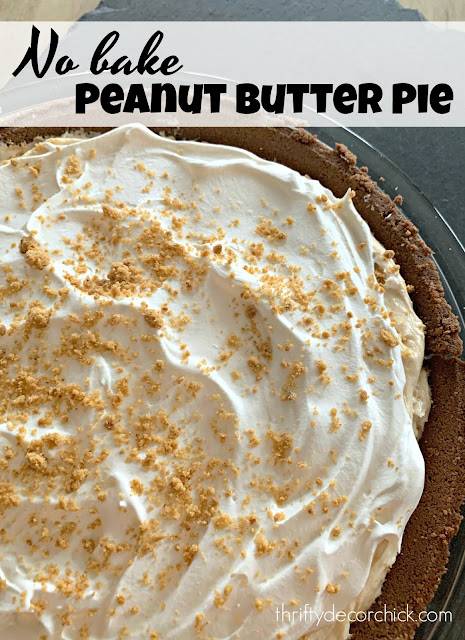 Easy and delicious no bake peanut butter pie