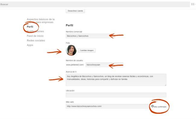Cómo mejorar el perfil de usuario en Pinterest