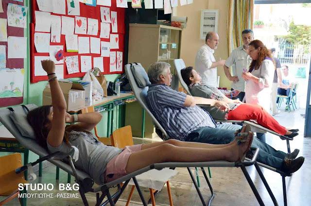 Με επιτυχία παρά τον καύσωνα η 82η εθελοντική αιμοδοσία
