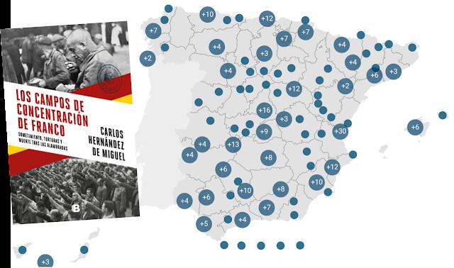 Mapa camps de concentració franquistes