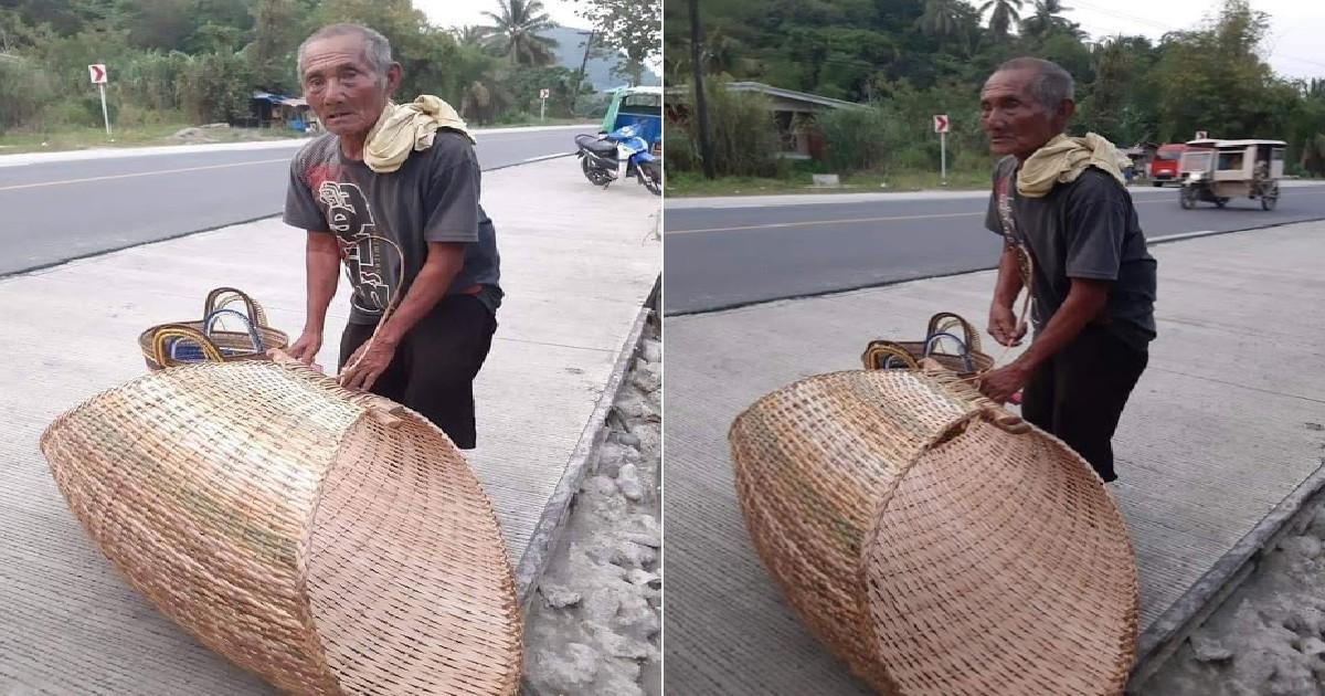102-Anyos Na Lolo, Naglalako Pa Ng Hinabing Duyan At Bayong Para Ibuhay Sa Sarili