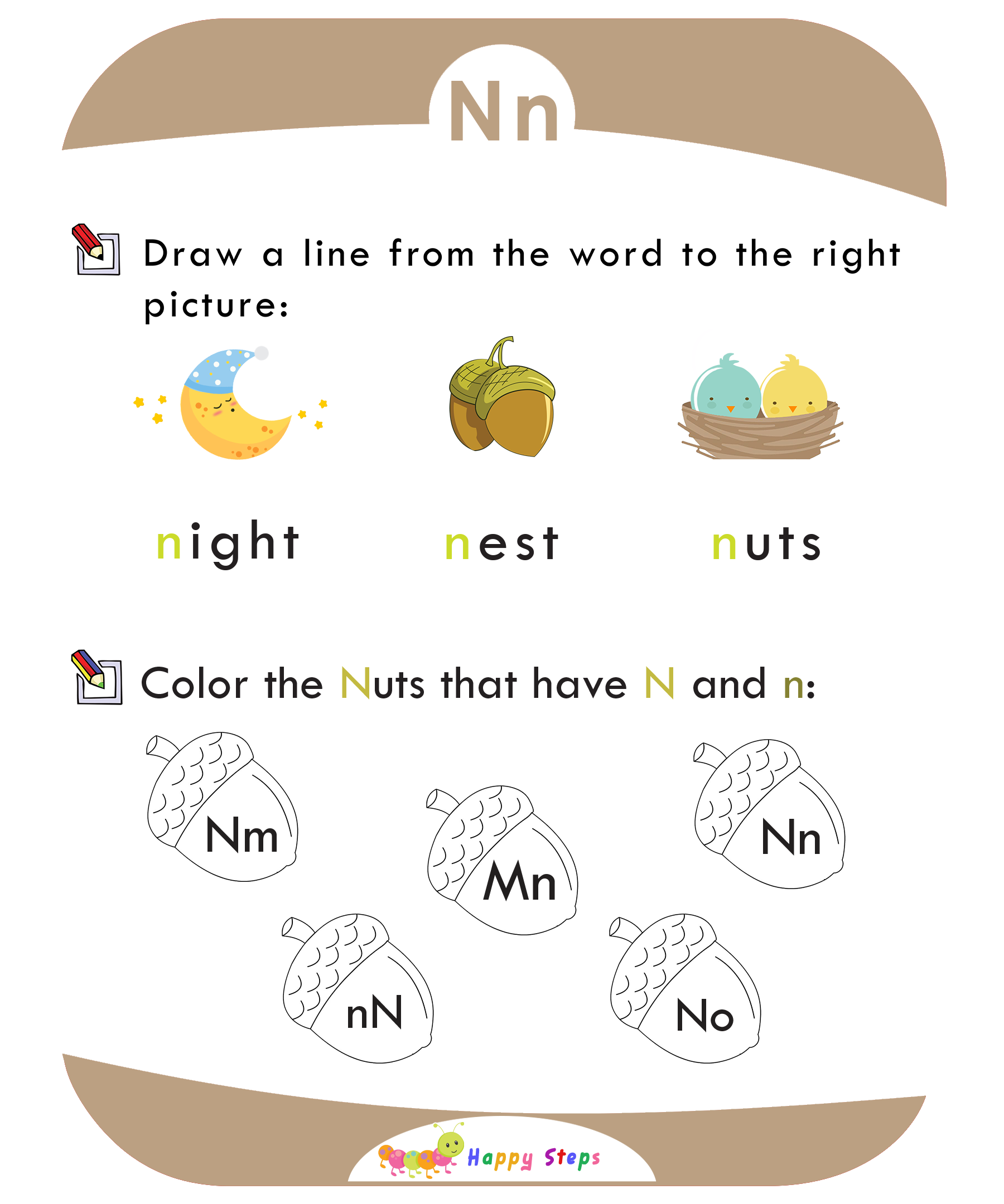 Activity Worksheet 1 Letter N