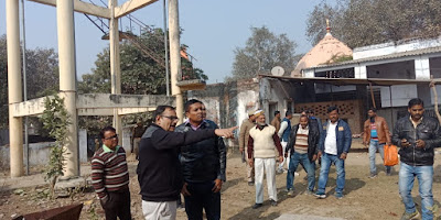 DM Sultanpur Inspect Cow Shelter Home