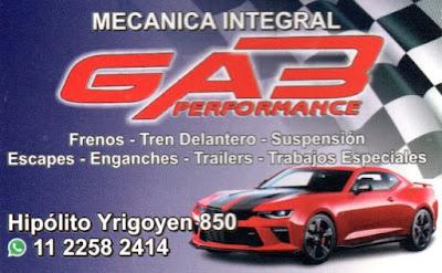 Lo que el auto necesita, en GAB Performance. Idoneidad y eficiencia. Aviso%2BGAB