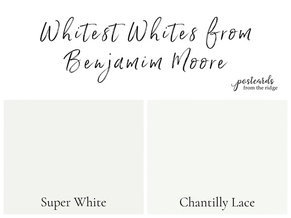 whitest paint colors from benjamin moore