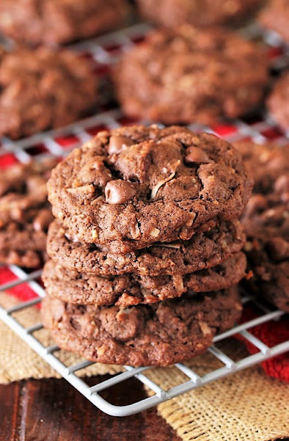 Stack of German Chocolate Chip Cookies Image