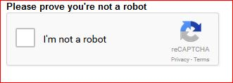Please Prove You're Not A Robot.