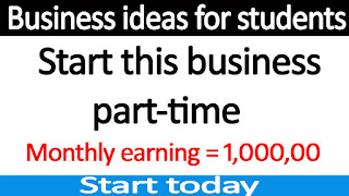 Part-time business ideas for students in India
